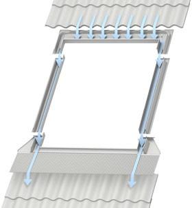 מערכת איטום לחלונות לגגות רעפים