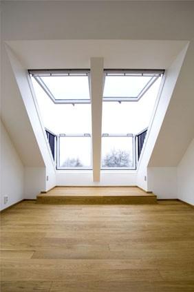 זוג חלונות גג מרפסת גג