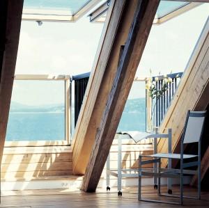חלון גג מרפסת נוף מושלם