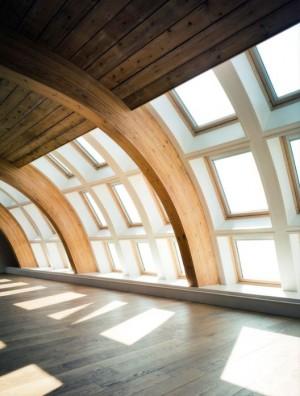 חלונות גג במבנה תעשיה ייחודי