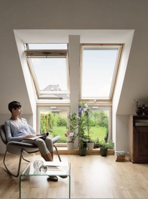 חלונות גג אנכיים עם אופקיים