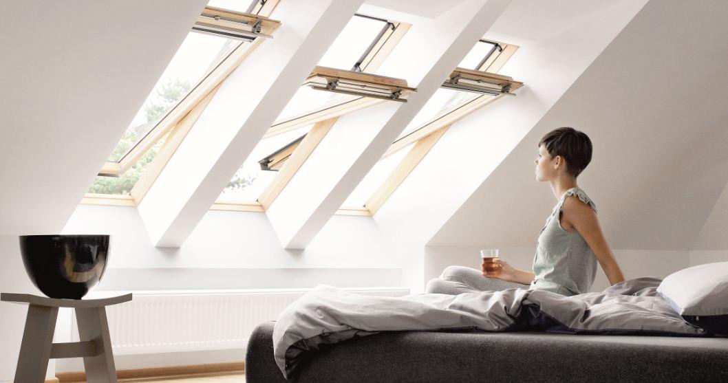 חלונות גג ציר אמצעי תמונת נושא